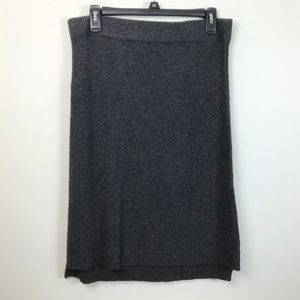 Madewell Medium Alpaca Wool Ribbed Gray Skirt